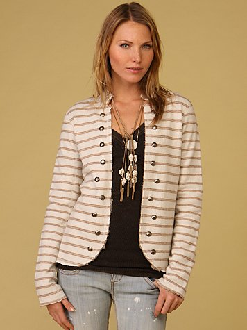 Studded Stripe Blazer