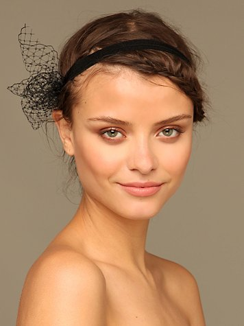 Netting Bow Headband :  flower headband fashion net