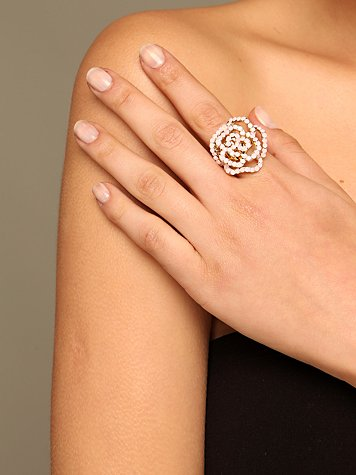 Crystal Rose Ring :  flower rose jewelry jewellery