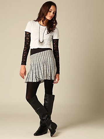 Epiphany Convertible Circle Skirt :  chic dress grey knit