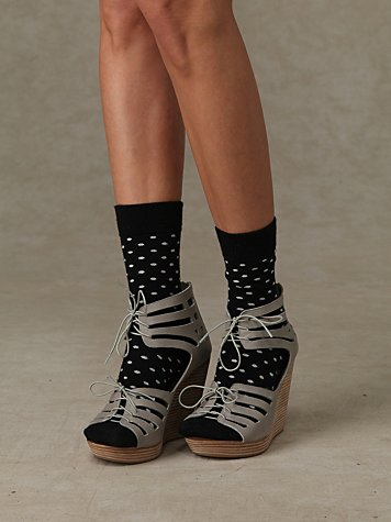 Tulua Wedge at Free People Clothing Boutique :  spring gray stacked wedge grey