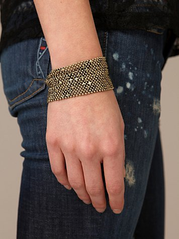 Chainmail Cuff at Free People Clothing Boutique :  metal mesh chainmail bracelet chainmail uncommon foundry
