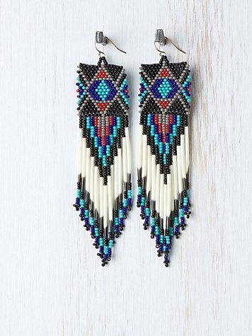 Jacquie Aiche Beaded Earring :  beads beaded jacquie aiche tribal
