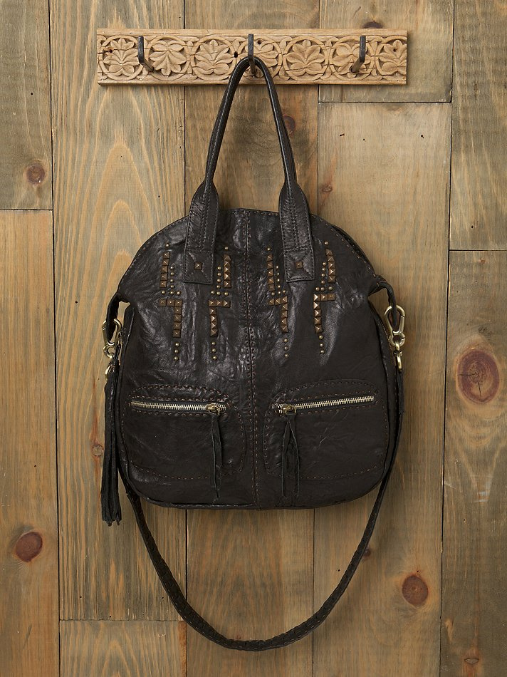 Free People Clothing Boutique > Aztec Studded Leather Bag :  leather bag studded bag