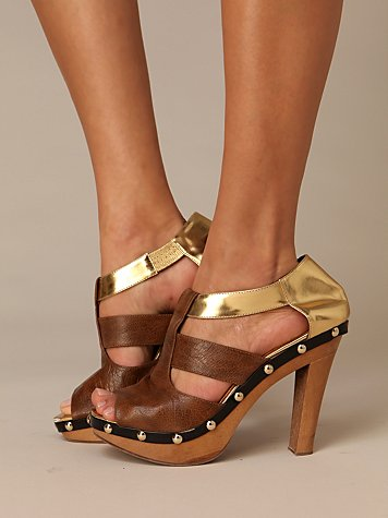Miranda Wooden Heel at Free People Clothing Boutique :  platforms sandals platform heels heels wooden heels
