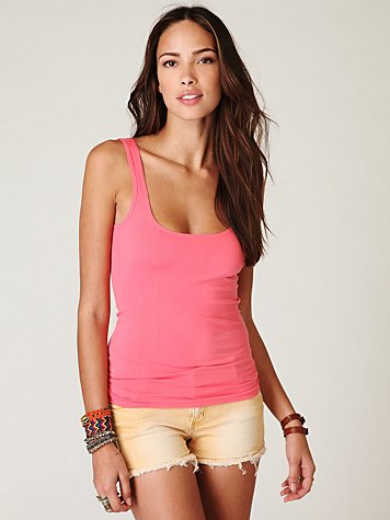 Seamless Scoop Tank at Free People Clothing Boutique :  layering stretch knit