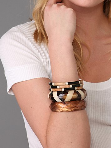 Sunset Safari Bangle Set :  wood and ivory bangle set bracelet bangle set bangles