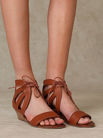 Roller Wedge Sandal at Free People Clothing Boutique :  shoes free people lace up monochromatic