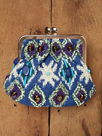 Beaded Safari Clutch