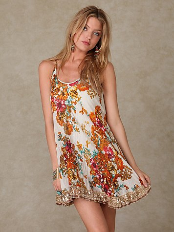 New Crinkle Floral Dress at Free People Clothing Boutique from freepeople.com