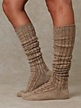 Cableknit Tall Sock
