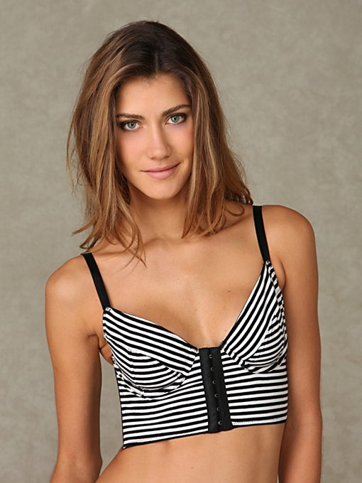 Striped Hook & Eye Bralette