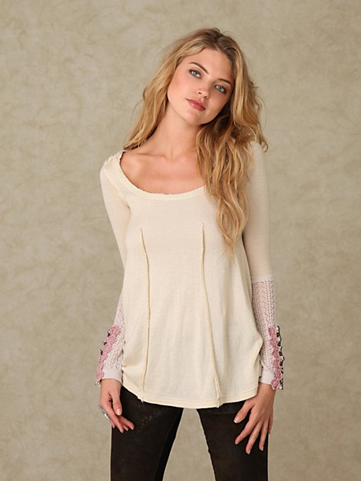 Raw Seam Sweater Tunic