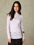 Lace Mock Neck Top