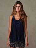 Sleeveless Lace Embellished Tank