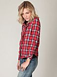 Ruffled Edges Plaid Shirt
