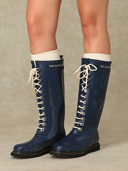 Ilse Lace Up Rain Boots