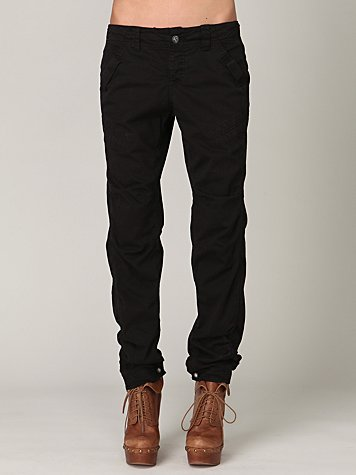 Washed Satin Utility Pant