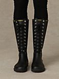 Noir Lace Up Weather Boots