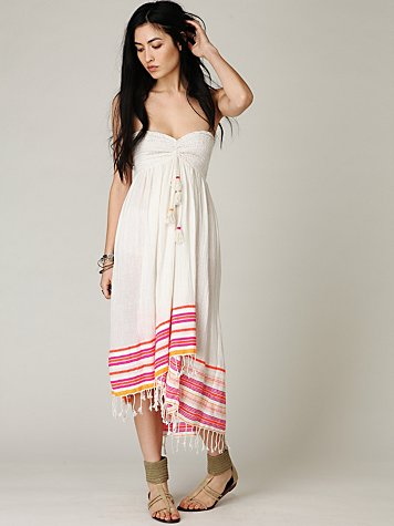 Free People FP ONE Wavebreak Smocked Tube Dress