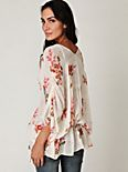 Short Sleeve Floral Dolman Tunic