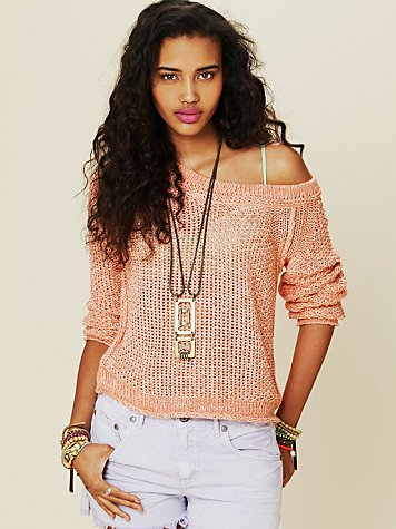 Free People Marled Yarn Pullover