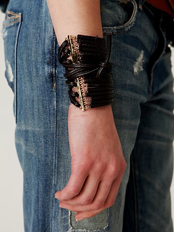 Leather Corset Cuff