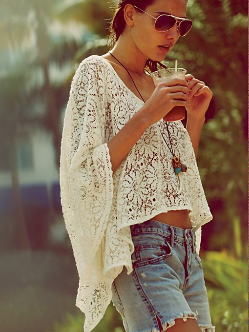 Lace Cropped Kaftan