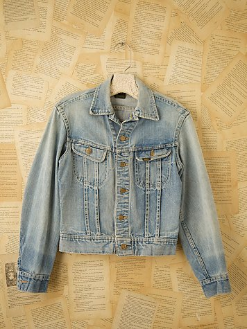 Vintage Lee Denim Jean Jacket at Free People Clothing Boutique from freepeople.com