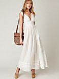 Threaded Lurex Maxi Dress