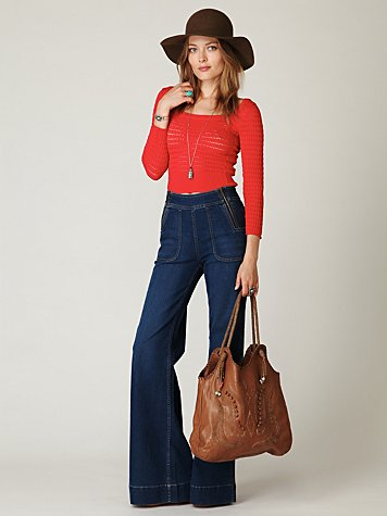 Blank  - High Waisted Zippered Wideleg Jean :  wide leg jeans blank denim jeans high waist wide leg jeans