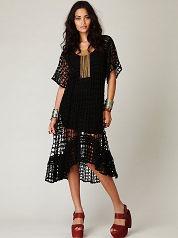 New Romantics Crochet Variety Dress at Free People Clothing Boutique :  layering crochet day dresses