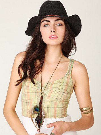 FP ONE Plaid Crop Top