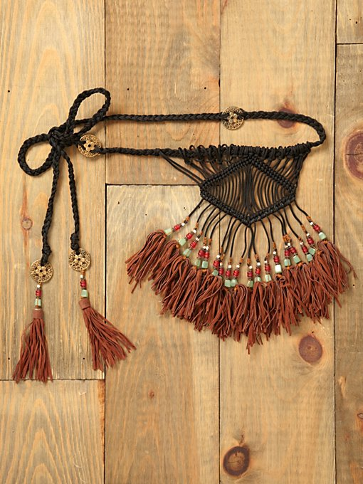 Leona Beaded Fringe Belt