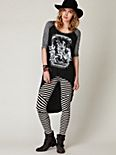 Pieced Striped Legging