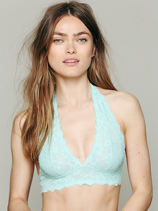 Intimately Free People Galloon Lace Halter Bra in bras