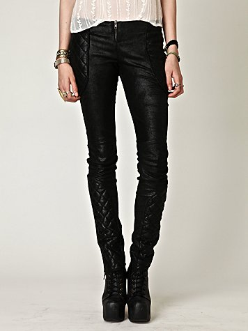 Quilted Leather Pant