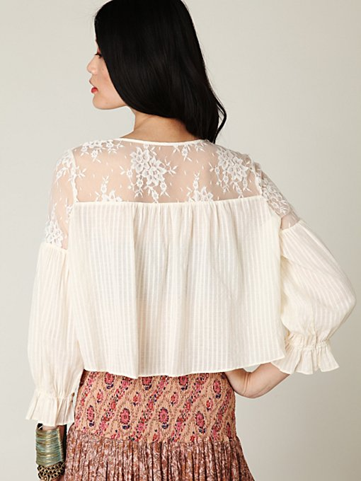 Elysium Lace Buttondown