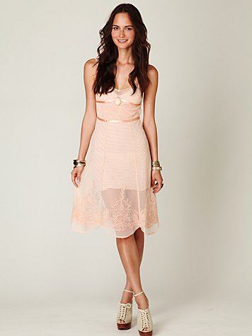 Embroidered Point D'esprit Slip