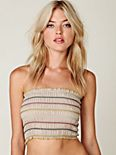 Stripe Smocked Bandeau