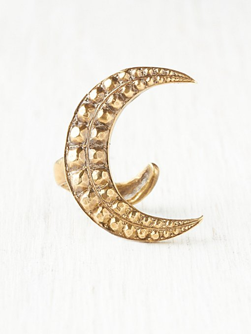 Crest Moon Wrap Ring