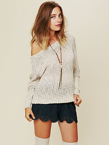 Scalloped Lace Skort