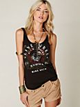 We The Free Graphic Moto Tank