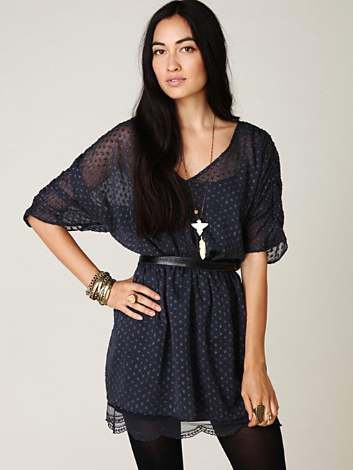 Sheer Dots Tunic