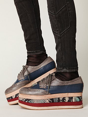 Jeffrey Campbell Stacked Wingtip