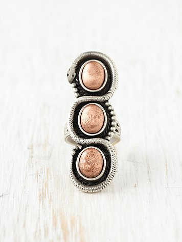 Copper Serpent Ring