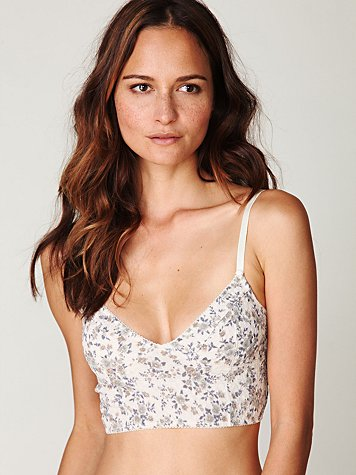 Textured Foil Crop Bra