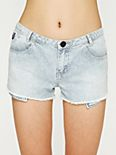 Railroad Stripe Cutoff Short