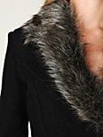 Fur Trimmed Wool Coat