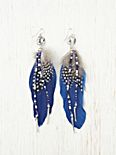 Feather Drop Beaded Earring